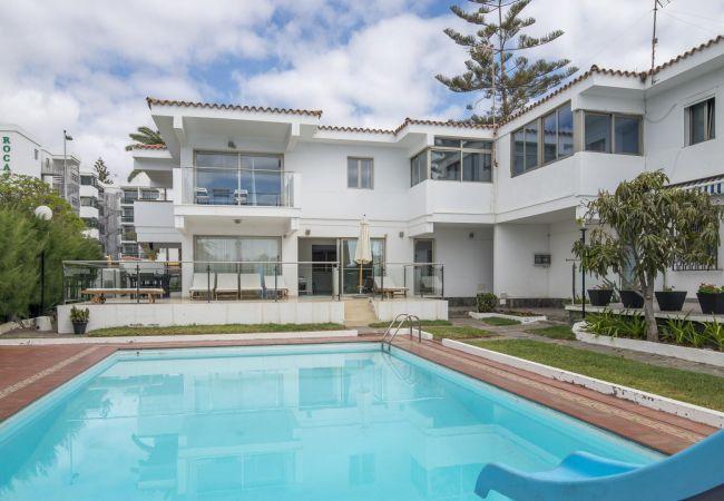 villa à Playa del Ingles - Villa Playa del Ingles piscine en bord de mer par Lightbooking